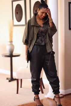 e61a76d745fe8 DIY Leather Jogging Pants-Beaute  J adore Leather Jogging Pants