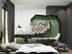 Study Room Design, Room Interior Design, Kids Room Design, Kids Bedroom Designs, Modern Kids Bedroom, Room Decor Bedroom, Barn, House Design, Behance