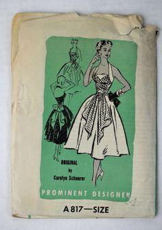 Prominent Designer A 817 mail order pattern dress Original by Carolyn Schnurer