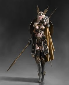 Valkyrie, Jonghwan Lee on ArtStation at https://www.artstation.com/artwork/bvlWm - More at https://pinterest.com/supergirlsart #female #fantasy #art