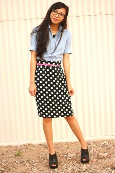really want to find a polka dot pencil skirt