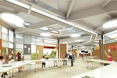In Los Angeles Unified School District (LAUSD) held a design competition for a flexible solution to replace portable buildings across the. Classroom Projects, A Classroom, Classroom Design, Learning Spaces, Learning Environments, Portable Classroom, Design Competitions, Elementary Schools, Flexibility