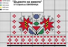 "Българският фолклор в модата: Символът ""Дървото на живота"" Cross Stitch Borders, Cross Stitch Samplers, Cross Stitch Designs, Cross Stitching, Cross Stitch Patterns, Embroidery Motifs, Cross Stitch Embroidery, Easter Cross, Creative Embroidery"