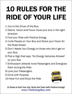 The Energy Bus Quotes The Energy Bus  Poster Download  Quotes And Inspiration