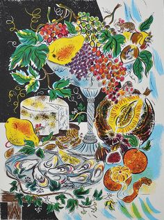 """""""Feast"""" by Emily Sutton. Editioned at the Penfold Press (screenprint)"""