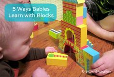 Do your kids like building blocks?  We recently got a great set from Alex Toys.  Here are 5 ways even babies learning from playing with blocks! B-InspiredMama.com