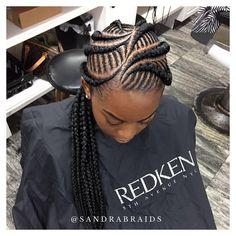 "1,585 Likes, 26 Comments - Sandra Finn (@sandrasbraids) on Instagram: ""#houstonbraider #braider #braids #cornrows #feedinbraids #feederbraids #ghanabraids"""
