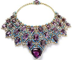 Duchess of Windsor-  amethyst necklace by Cartier