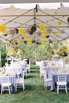 paper poms   Freshly Wed #wedding