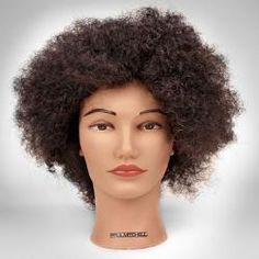"**ON SALE** Paul Mitchell Doll Head - Ethnic 12"" natural curly ethnic hair 100% human hair Paul Mitchell Branded"