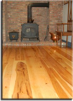 Wide Plank Rustic Hickory Flooring