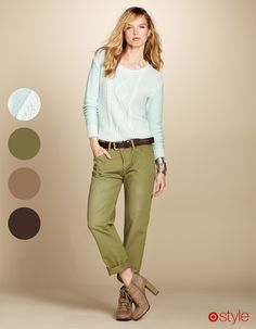 CARGOS my style but in the darker choc pants or the khaki, loving the shoes !! So prep .......