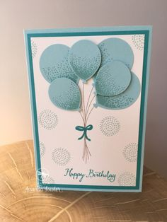 Stamping, papercrafts and scrapbooking using Stampin' Up! You can book a Stampin' Up! UK party, buy Stampin' Up! UK goods, and find out more about joining as a Stampin' Up! Images © Stampin' Up! Handmade Birthday Cards, Happy Birthday Cards, Greeting Cards Handmade, Stampin Up, Ballon Party, Up Balloons, Balloon Balloon, Celebration Balloons, Karten Diy