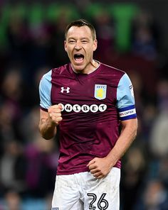 John Terry of Aston Villa celebrates at full time during the Sky Bet Championship match between Aston Villa and Wolverhampton Wanderers at Villa Park on March 2018 in Birmingham, England. Get premium, high resolution news photos at Getty Images Aston Villa Fc, Championship Football, Villa Park, Birmingham England, Football Stickers, Best Club, Wolverhampton, Defenders, March