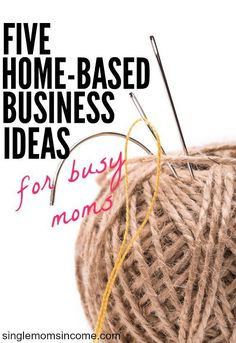 Looking for a way to earn extra income from home? Here are five popular home-based business ideas for busy moms. http://singlemomsincome.com/5-home-based-business-ideas-for-busy-moms/