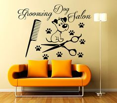Wall Decals Grooming Salon Decal Vinyl Sticker Dog Pet Shop Home Decor Interior Design Bedroom Window Hall Art Mural Ah6