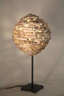 om handmade driftwood lamp  natural design