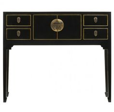 High Quality Traditional Chinese Console Table In Lacquered Finish And Distressed Edges  Http://www.