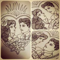 Love these old school looking tattoo designs. #tattoo #tattoos #ink
