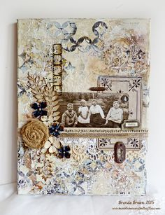 Bumblebees and Butterflies: Shabby Vintage canvas for CVC