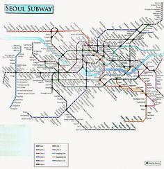 Seoul Subway Map Seoul Korea In 2019 Seoul Map Korea Map