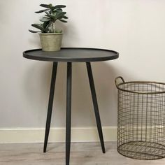 Industrial Round Lipped Side Table   Choice Of Sizes From The Farthing