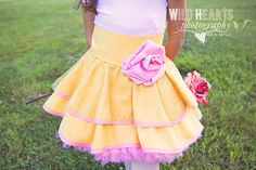 Belle Inspired Dress Up Costume Apron...Half Apron style.