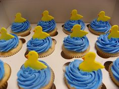 Edible Fondant Baby Shower Duck Cupcake Toppers. $8.99, via Etsy.