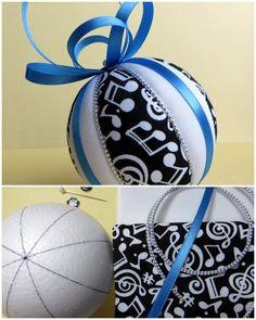 Christmas Ornament Kit - Music Kimekomi by OrnamentDesigns on Etsy