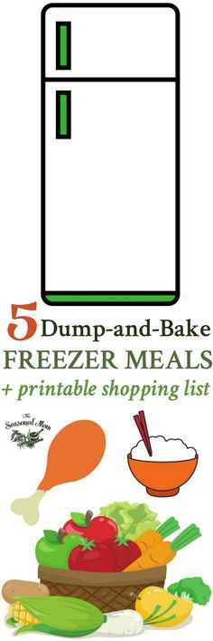 Make meal prep simple! In about 1 hour you can assemble 5 Dump-and-Bake Freezer Meals that require no cooking and no prep work for easy dinners any night!