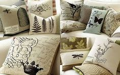 cute silhouette pillows