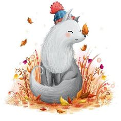 Autumn equinox, wolf painting #autumn #wolf #illustration    #Regram via @illustratelucy