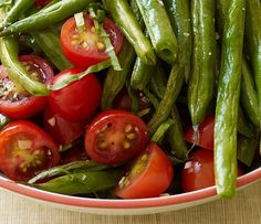 O points too Roasted Green Beans and Fresh Tomatoes