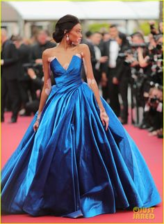 Winnie Harlow wearing Zuhair Murad Couture at the 2017 Cannes Film Festival in Cannes, France