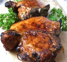 The best damn air fryer pork chops. So juicy and tender and delicious. The best damn air fryer pork chops. So juicy and tender and delicious. Air Fryer Dinner Recipes, Air Fryer Oven Recipes, Recipes Dinner, Dinner Ideas, Breakfast Recipes, Enchiladas, Thin Pork Chops, Cooking Tips, Cooking Recipes