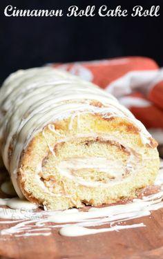 Cinnamon Roll Cake Roll Really nice recipes. Every hour. Show me  Mein Blog: Alles rund um die Themen Genuss & Geschmack  Kochen Backen Braten Vorspeisen Hauptgerichte und Desserts