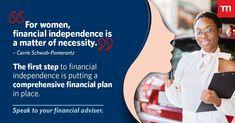 #EmpoweringWomen #WomensMonth #Momentum #WomenNeedLifeInsuranceToo #YourFinancialAdviser Take control of your financial wellness as a women. Contact me Christina Duvenhage 0749528545 or christina.duvenhage@momentum.co.za Womens Month, Financial Planner, First Step, Wellness, How To Plan