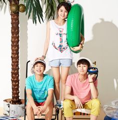 Lee Hyun Woo, Kim So Hyun, and Park Seo Joon for Unionbay Summer 2014 Ad Campaign