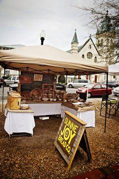 Farmer's Market Sunne Joy Bread Co. Bakery Tent in downtown Pensacola  #eatlocal