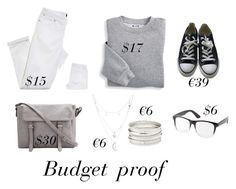 Budget proof by pourmoiettoi on Polyvore featuring polyvore, fashion, style, Blair, Converse, Charlotte Russe and clothing