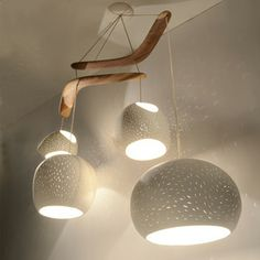 Claylight Boomerang Chandelier, now featured on Fab.