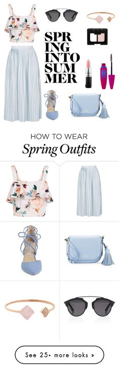 """Spring Outfit"" by ecenazliergoz on Polyvore featuring New Look, Topshop, Kate Spade, Christian Dior, Kristin Cavallari, Michael Kors, MAC Cosmetics, NARS Cosmetics and Maybelline"