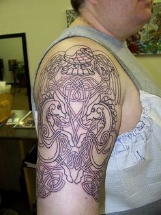 Very unusual and very cool tattoo sleeve... www.thetattoofanatic.com