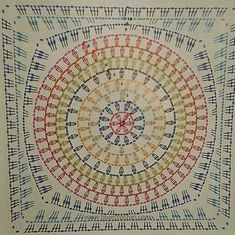 Crochet mandala cushion circles 31 Ideas for 2020 Crochet Poncho Patterns, Granny Square Crochet Pattern, Crochet Diagram, Crochet Squares, Crochet Chart, Crochet Granny, Knitting Patterns, Granny Squares, Crochet Circles
