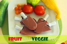 Fruit & Veggie Pops 8 ounces 100% Apple Juice 1-2 peaches 1/2 cup frozen berries 1/2 banana Big handful baby kale 1/2 cooked sweet potato    Blend together until very smooth.  Pour into popsicle molds and freeze.