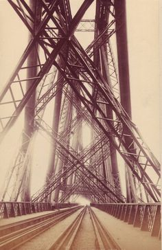 The Forth Bridge - Apparently just north of Edinburgh.  This shot is incredible.  The metal structure of the bridge has such an amazing and intricate presence.