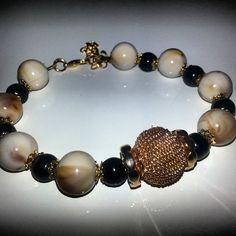 Love it #bracelet #byme #handmade #braceletcollection #bijoux #moda #musthave #picoftheday #perle  #instabeauty #instafashion  #instashopping #cool Per info&costi mylovelycreation@libero.it