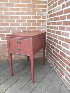 Vintage One Drawer Side Table Painted with by WalnutHollowVintage, $38.00