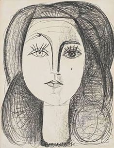 picasso, francoise, 1945....though most love his cubist works, i love his portraits.  amazingly beautiful.