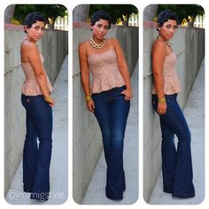 mimi g.: OOTD: Denim + Lace On Date Night